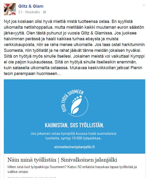 Miksi ostaa Suomesta  - Glitz   Glam 70ae3b0bcd