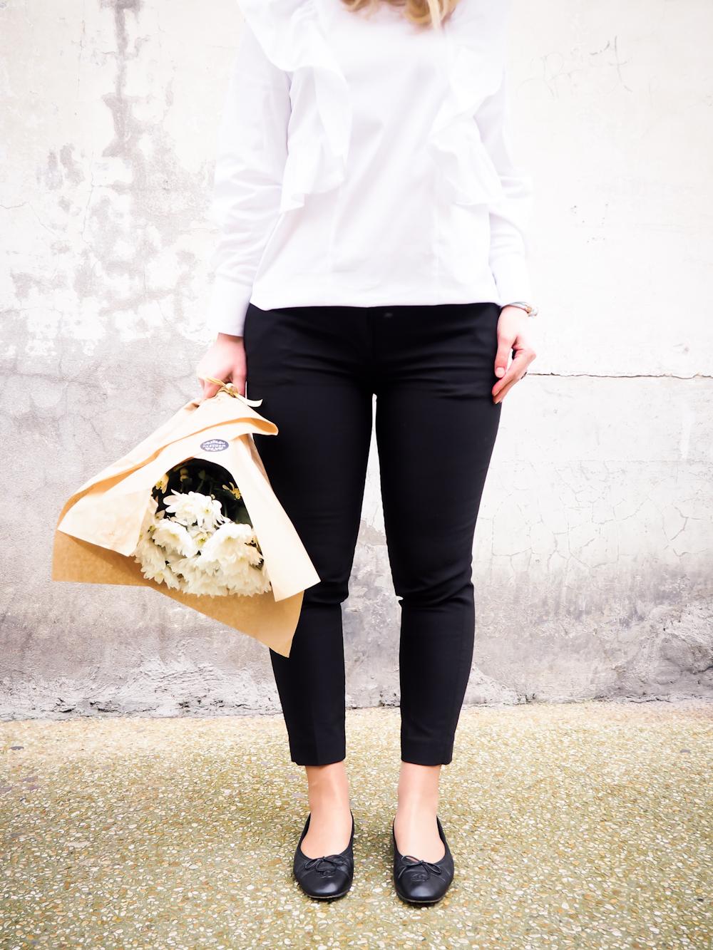 Suorat nilkkapituiset housut