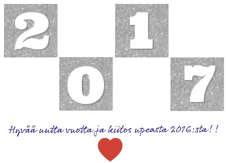 Kiitollisuutta vanhalle vuodelle ja onnea uudelle!
