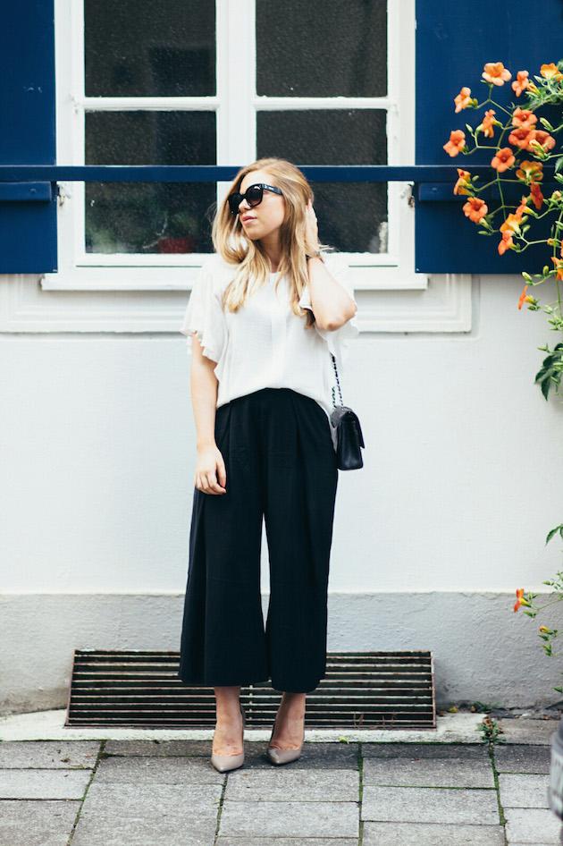 Culottes housut, korkkarit, Celine New Audrey aurinkolasit