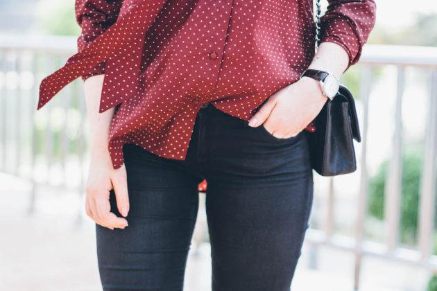 Na-kd viininpunainen pusero