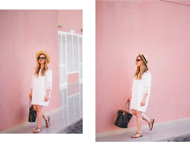 Dubai pink photography wall