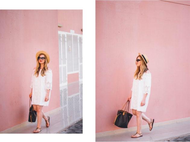 Dubai pink photography wall