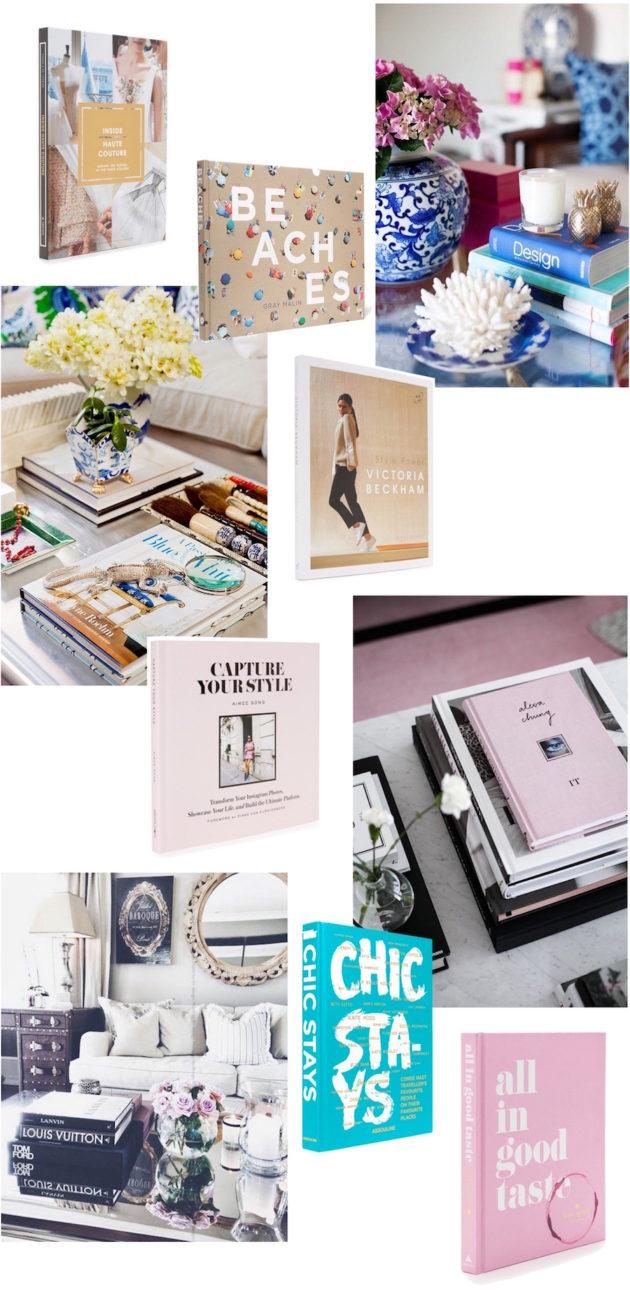 Tyylikkäitä ja hyvännäköisiä kirjoja sohvapöydälle