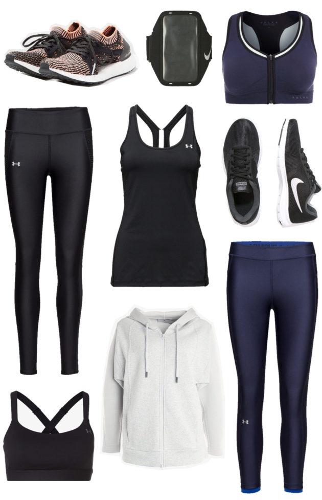 Tyylikkäät urheiluvaatteet, Under Armour, Nike, Adidas