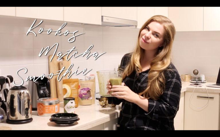 Kookos matcha smoothie