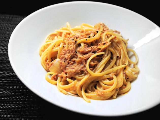 nyhtöposspasta pulled pork pasta