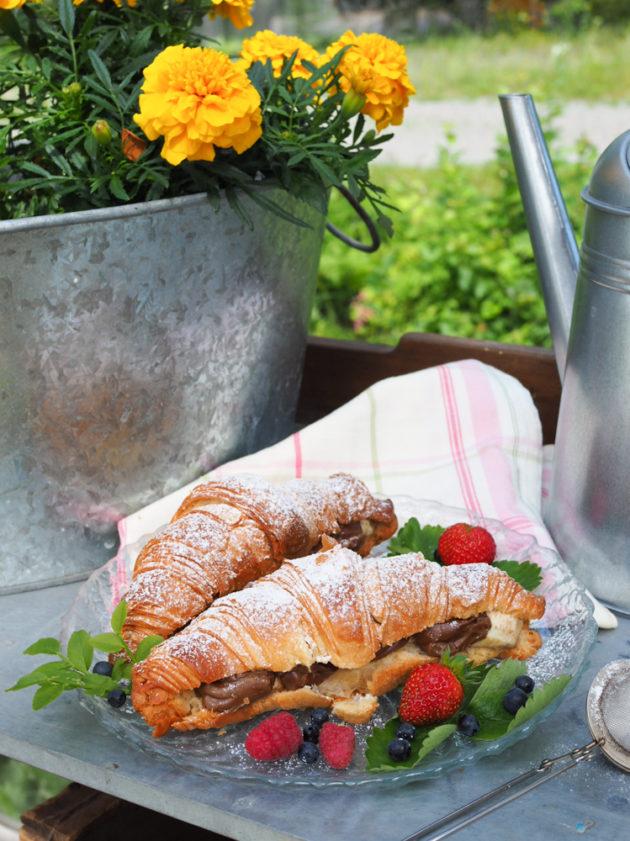 täytetyt croissantit