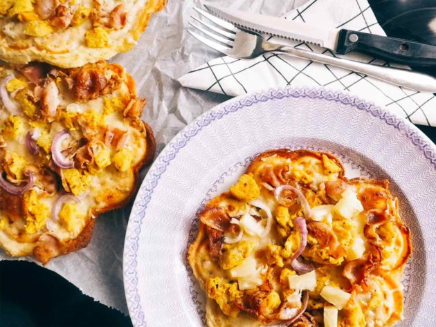 Jonna1983: Juuston ystävän gluteeniton vohvelipizza