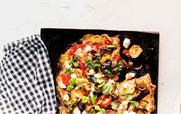 Marokkolaisittain maustettu kasvispizza