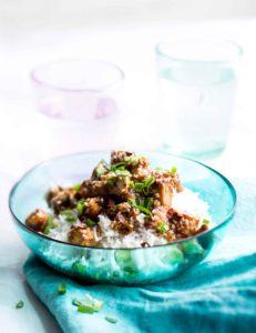 seesamitofua ja riisiä