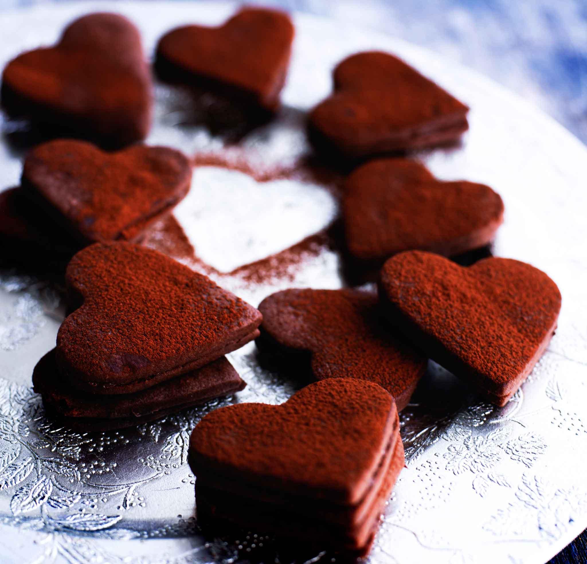 suklaasydämet, mukana Nutellaa