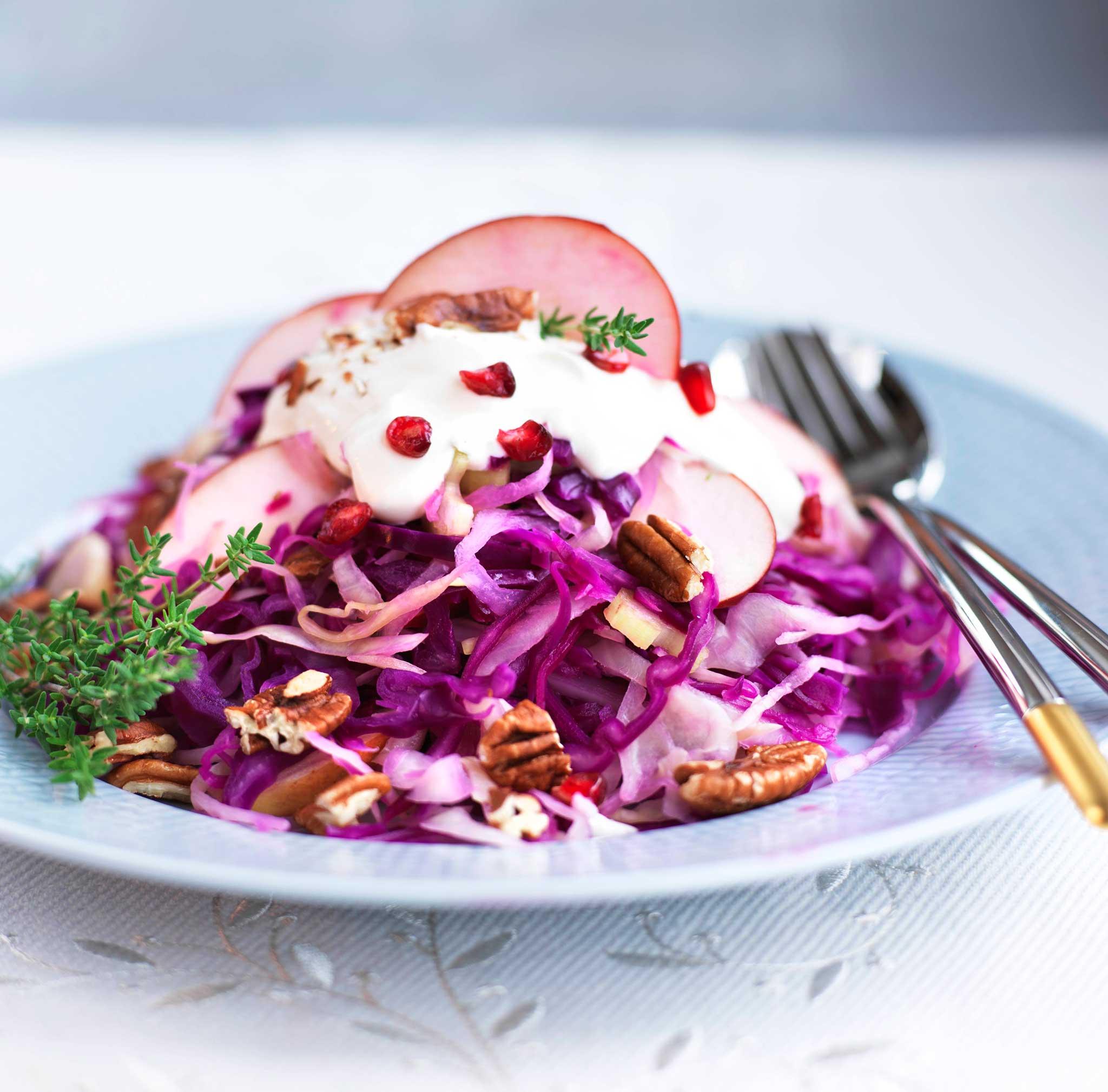jouluinen coleslaw