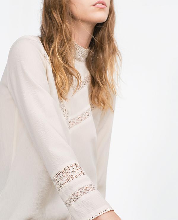 Korkeakauluksinen pusero, Zara