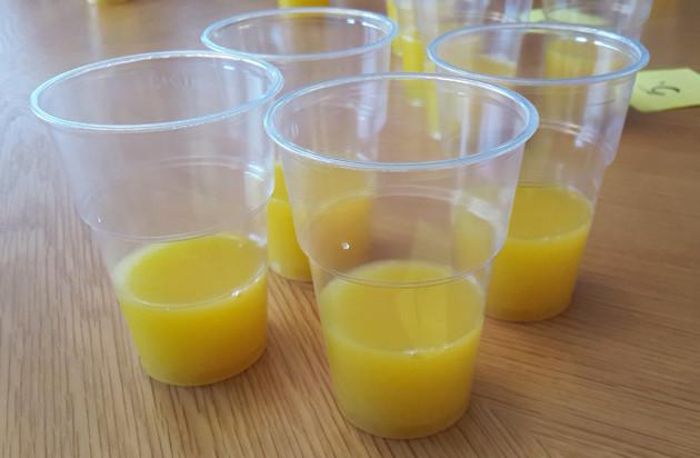 appelsiinimehut testissä