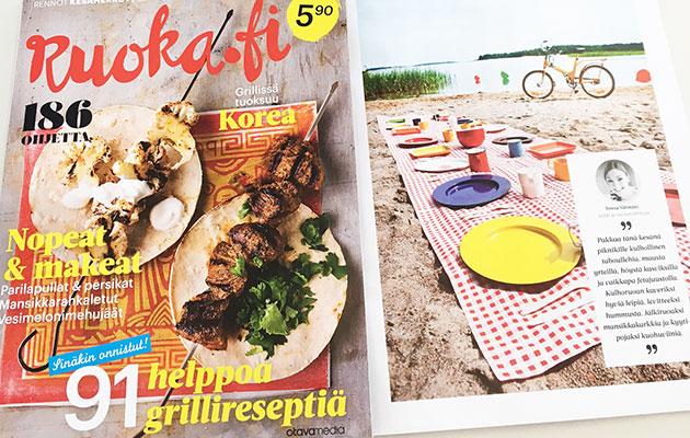 Ruoka.fi-lehti kansi ja piknik