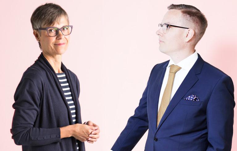 Riitta Stirkkinen ja Markus Vinnari