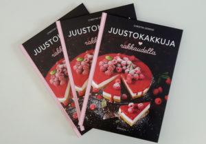 Juustokakkuja rakkaudella -kirjan kansi