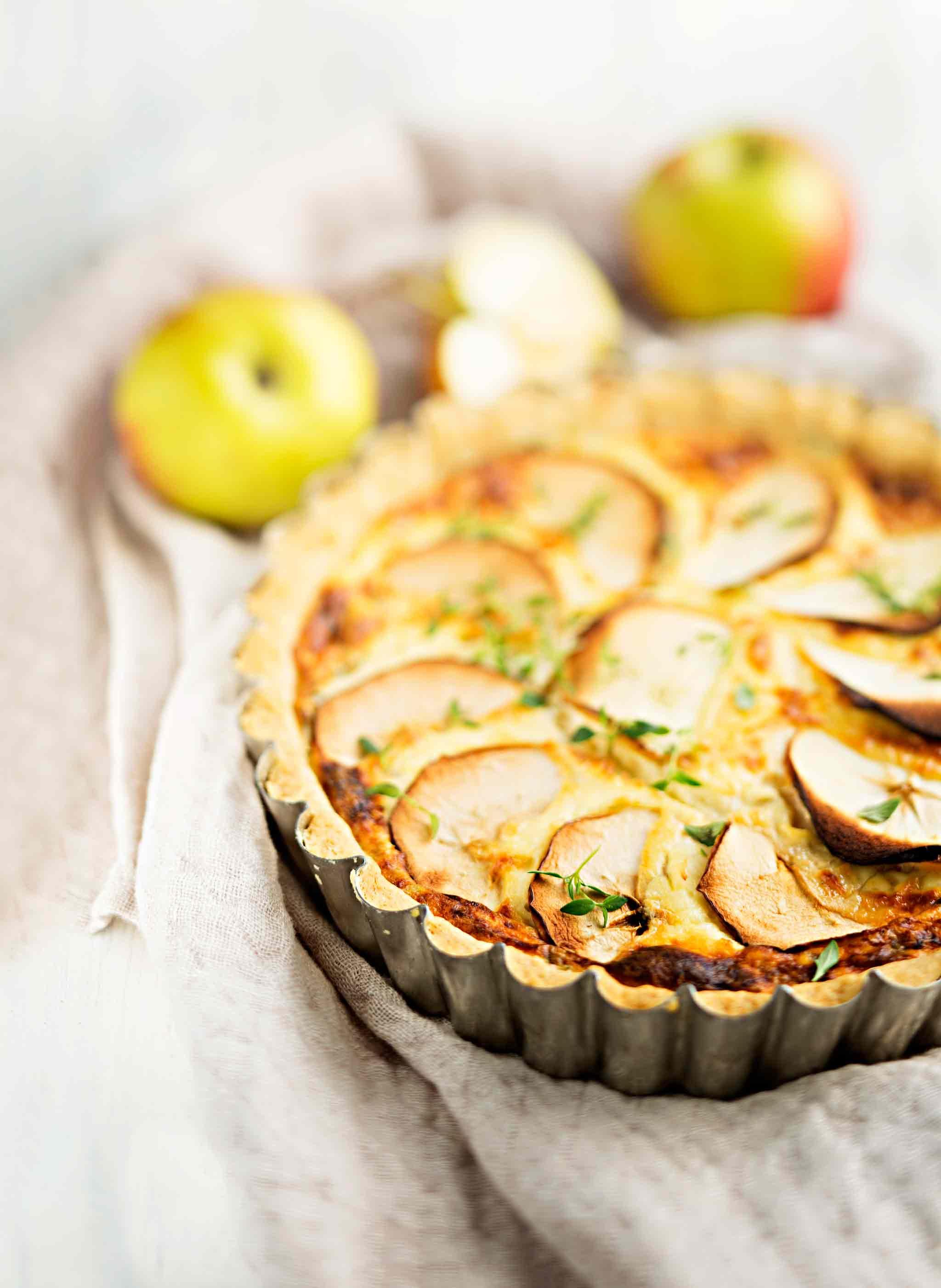 omena_vuohenjuustopiirakka