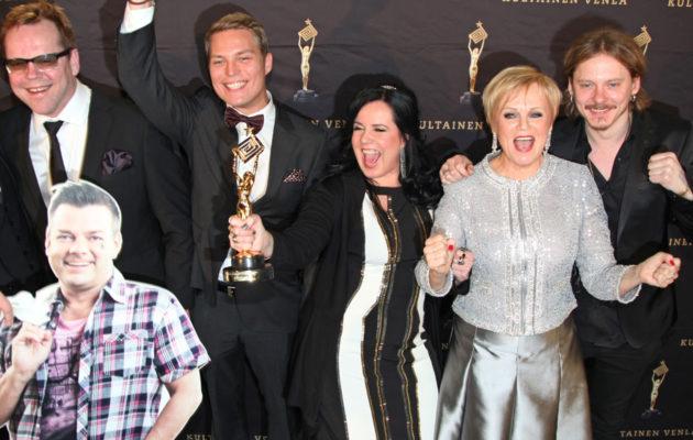Vain elämää -ohjelman ensimmäisen tuotantokauden artisteilla riitti juhlittavaa myös Venla-gaalassa.