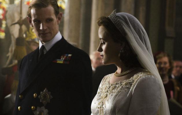 Claire Foy näyttelee nuorta kuningatar Elisbetia ja Matt Smith prinssi Philipiä Netflixin uudessa draamasarjassa The Crown.