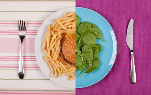 50:50-dieetti perustuu siihen, että vähintään puolet ateriasta sisältää terveellistä ja kevyytä ruokaa.