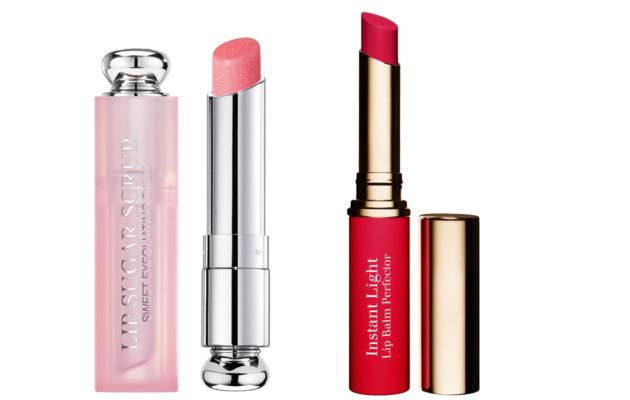 Dior Addict Lip Sugar Scrub ja Clarins Instant Light Lip Balm Perfector