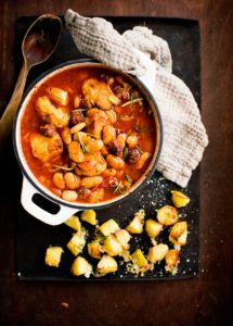 chorizo-kanapata ja manchegoperunat