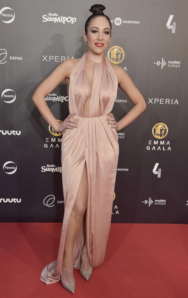 Janna Hurmerinta vuoden 2017 Emma-gaalassa.
