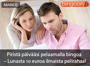 Lunasta 10 euroa ilmaista pelirahaa!