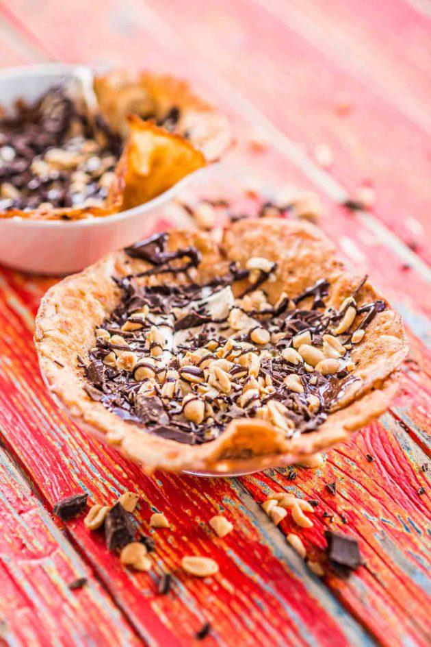 maapähkinä-suklaaräiskäleet