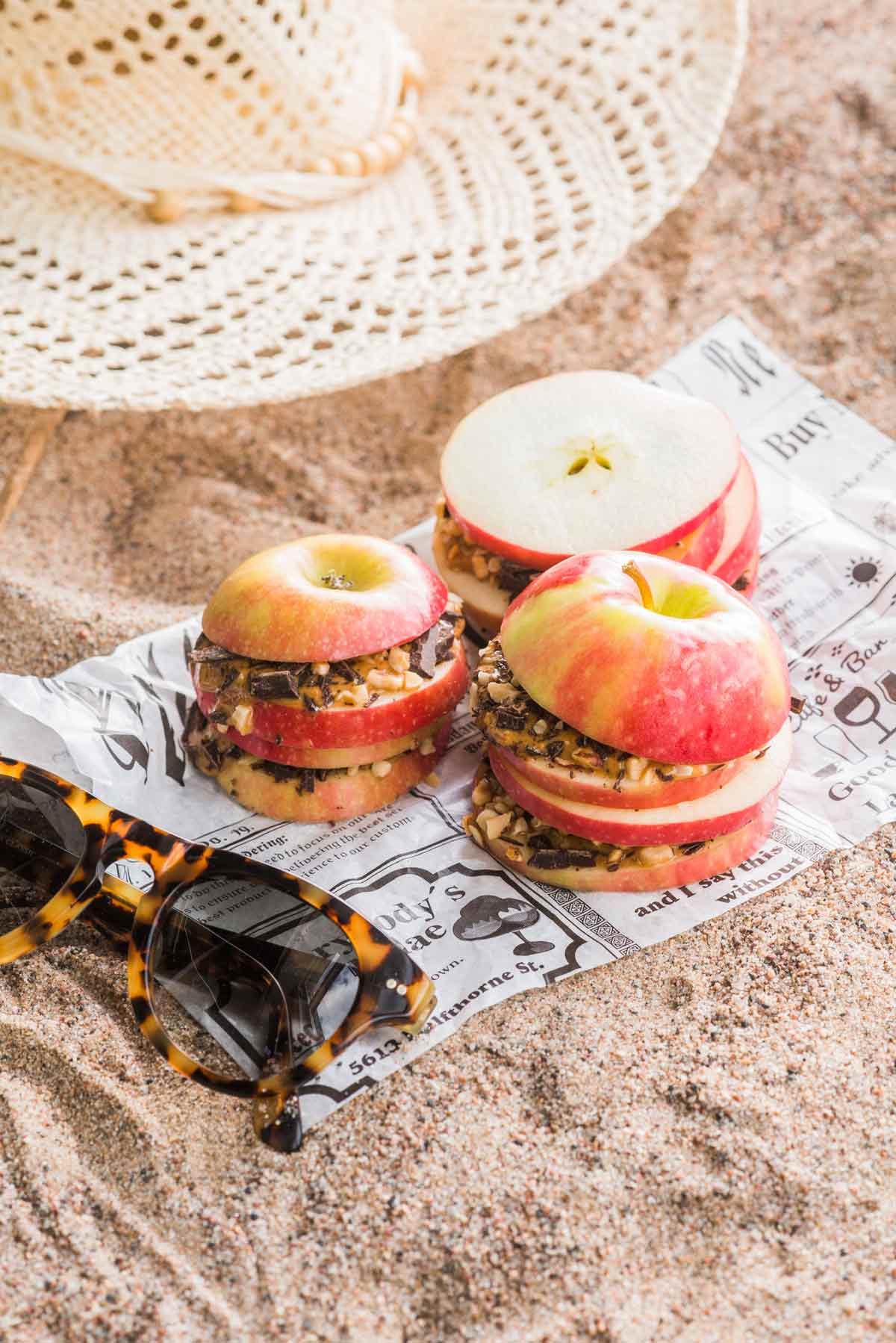 omena-maapähkinävoiherkut