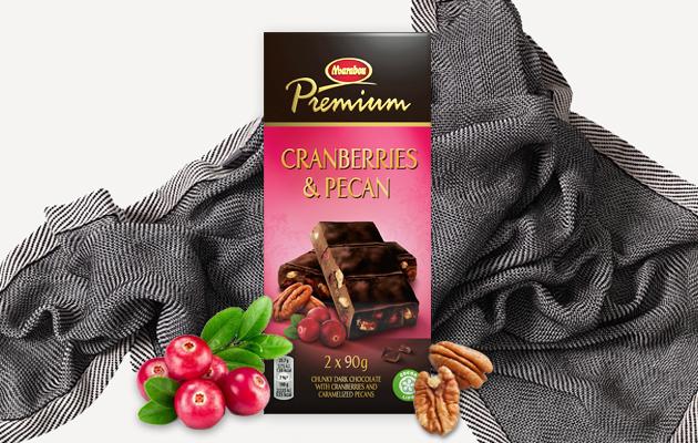 Marabou Premium Cranberries & Pecan sopii täydellisesti loppukesän päiviin