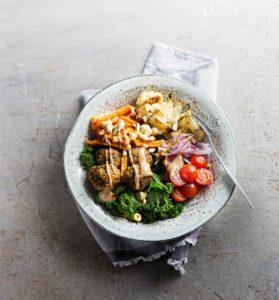 papupyörykkä-salaattikulho