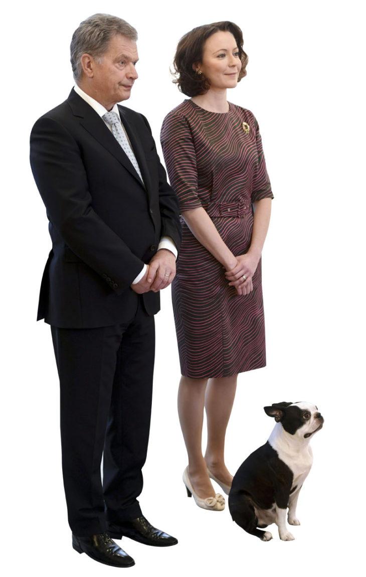 Lennu-koira on Sauli Niinistön ja Jenni Haukion lemmikki.