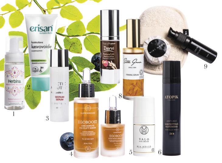 Suomi-kosmetiikan parhaat tuotteet.