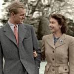 Rakastunut aviopari kävelyllä marraskuussa 1947.