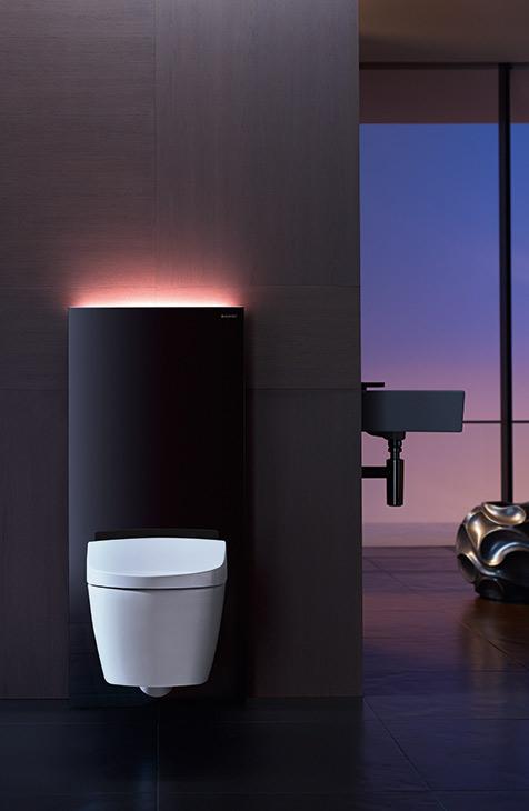 Seinä-wc on selkeä ja tyylikäs ratkaisu, joka helpottaa siivousta jättäen lattiatilan wc:n alla vapaaksi.