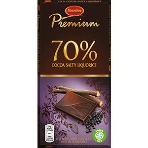 1. Cocoa Salty Liqourice -suklaalevy