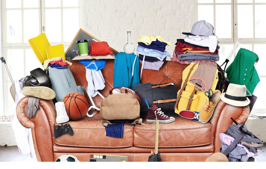 Sotkuinen koti lisää stressiä. Tilanne on harmillinen etenkin silloin, kun elämässä on isoja ongelmia muutenkin.