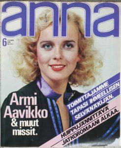 Armi Aavikko Annan kannessa 1978