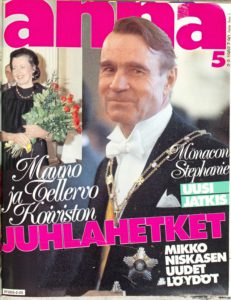 Mauno Koivisto Annan kannessa 1982.