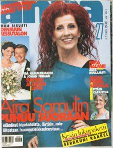 Aira Samulin Annan kannessa vuonna 1995