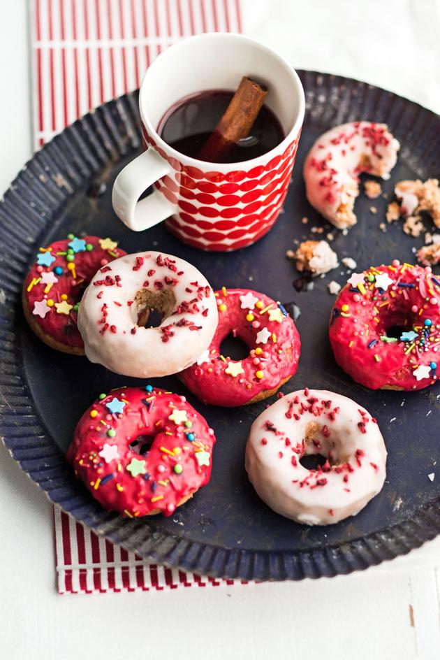 sokerikuorrutteiset donitsit