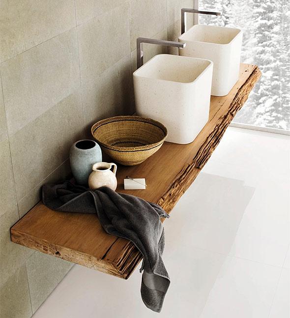 Sisustusideoita kylpyhuoneeseen for Mensola lavabo ikea