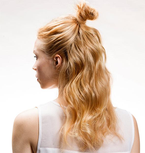 pitkät hiukset rento pimppi