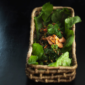 thaikasviksia ja seesamilohta