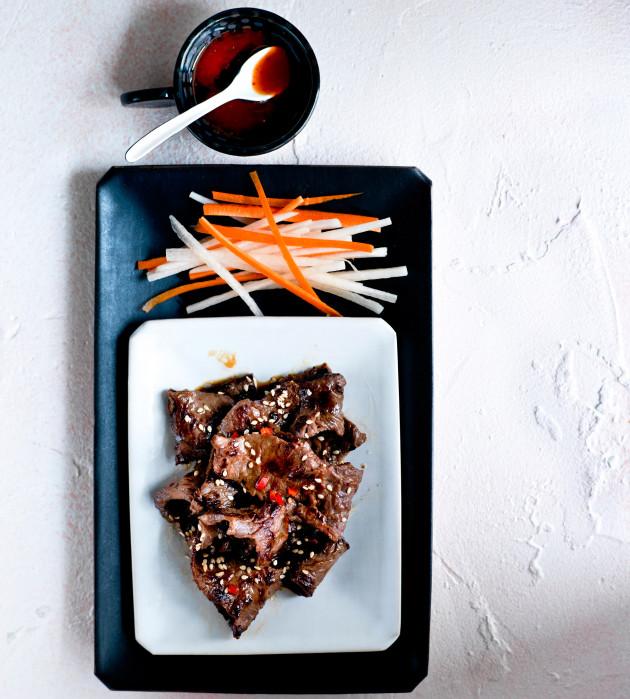 korealainen naudanliha eli bulgogi