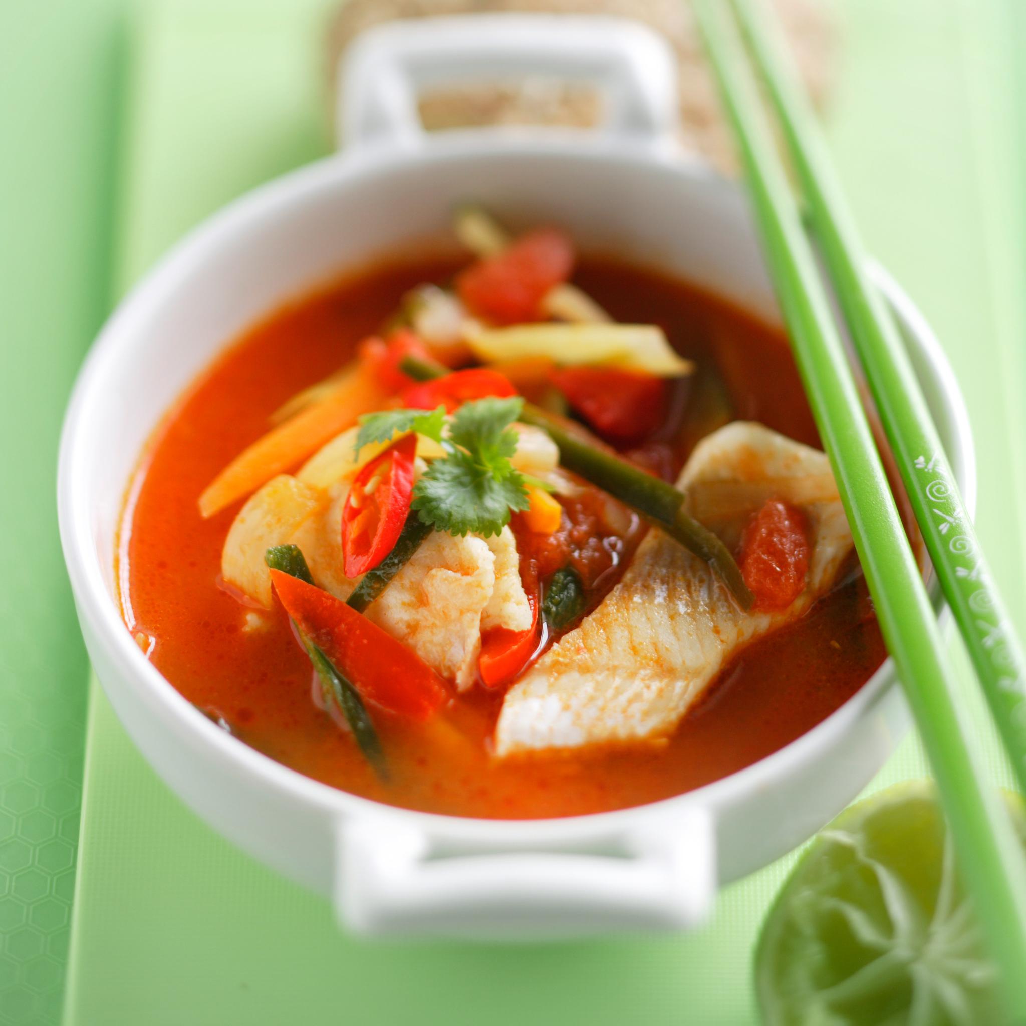 thaimaalainen kalakeitto