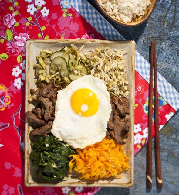 bibimbab eli korealainen pyttipannu
